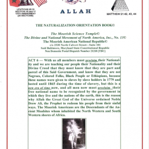 Books – MOORISH SCIENCE TEMPLE The Divine and National