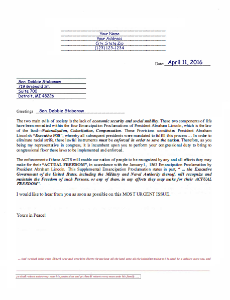 sending a letter to congress letter to representatives moorish science temple the 11006
